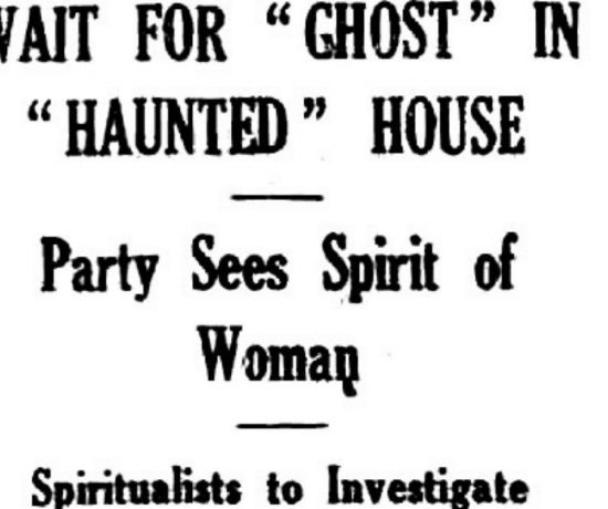 haunted house ghost hunt with a spiritualist medium